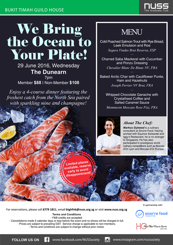 x Be clued in on the latest F&B promotions, events and