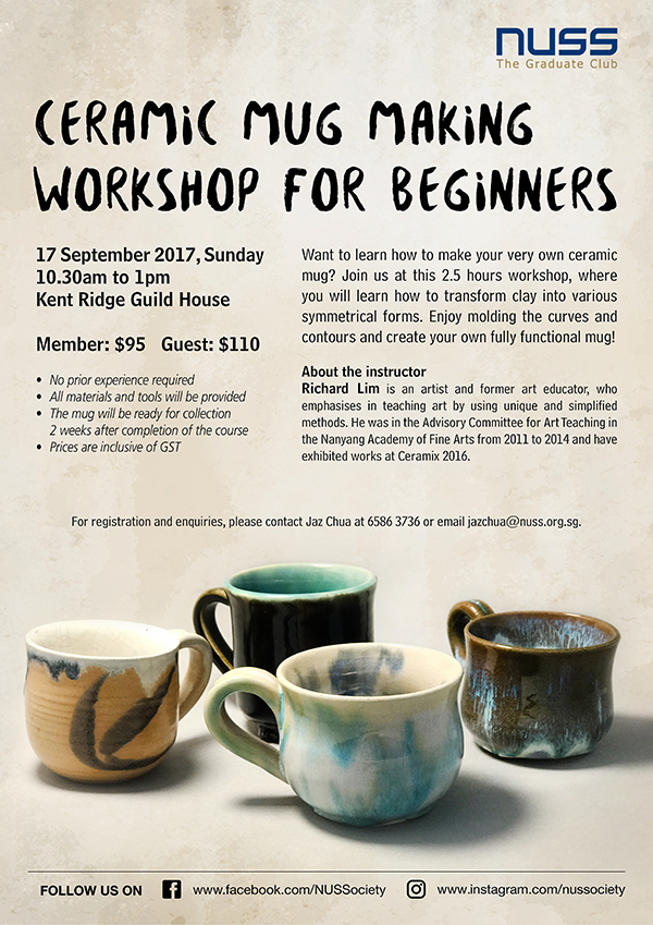 CERAMIC MUG MAKING WORKSHOP FOR BEGINNERS-EVENT REGISTRATION FORM